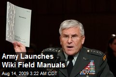 Army Launches Wiki Field Manuals