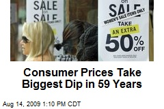 Consumer Prices Take Biggest Dip in 59 Years