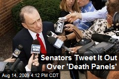 Senators Tweet It Out Over 'Death Panels'
