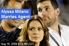 Alyssa Milano Marries Agent
