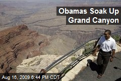 Obamas Soak Up Grand Canyon
