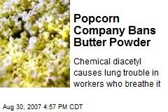 Popcorn Company Bans Butter Powder