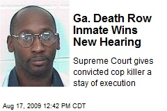 Ga. Death Row Inmate Wins New Hearing