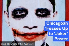 Chicagoan 'Fesses Up to 'Joker' Poster
