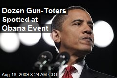 Dozen Gun-Toters Spotted at Obama Event