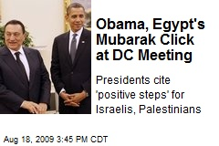 Obama, Egypt's Mubarak Click at DC Meeting