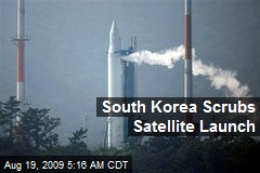 South Korea Scrubs Satellite Launch