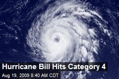 Hurricane Bill Hits Category 4