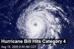 Hurricane Bill Hits Category 4