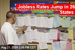 Jobless Rates Jump in 26 States