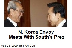 N. Korea Envoy Meets With South's Prez