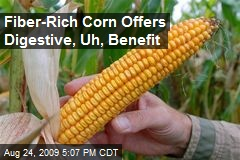 Fiber-Rich Corn Offers Digestive, Uh, Benefit