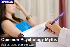 Common Psychology Myths