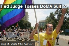 Fed Judge Tosses DoMA Suit