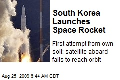 South Korea Launches Space Rocket