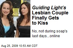 Guiding Light's Lesbian Couple Finally Gets to Kiss