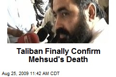Taliban Finally Confirm Mehsud's Death