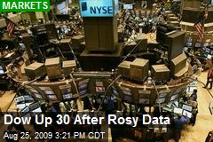 Dow Up 30 After Rosy Data