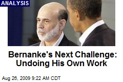 Bernanke's Next Challenge: Undoing His Own Work