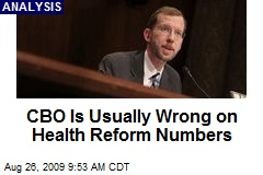 CBO Is Usually Wrong on Health Reform Numbers
