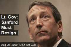 Lt. Gov: Sanford Must Resign
