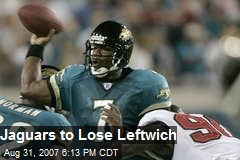 Jaguars to Lose Leftwich