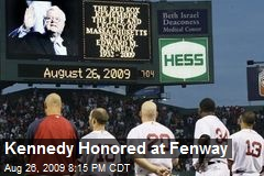 Kennedy Honored at Fenway