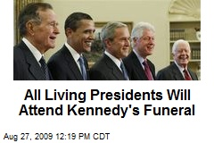 All Living Presidents Will Attend Kennedy's Funeral