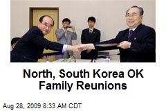 North, South Korea OK Family Reunions