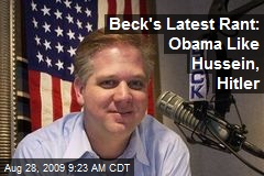 Beck's Latest Rant: Obama Like Hussein, Hitler