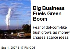 Big Business Fuels Green Boom