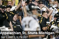 Appalachian St. Stuns Michigan