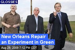 New Orleans Repair an Experiment in Green