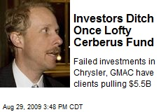Investors Ditch Once Lofty Cerberus Fund