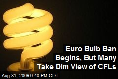 Euro Bulb Ban Begins, But Many Take Dim View of CFLs