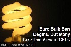 Euro Bulb Ban Begins, But Many Take Dim View of CFLs