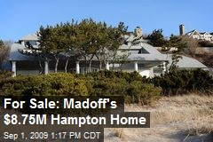 For Sale: Madoff's $8.75M Hampton Home