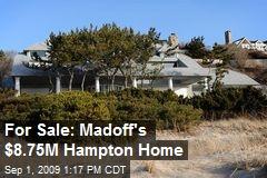 For Sale: Madoff's $8.75M Hampton Home