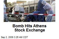 Bomb Hits Athens Stock Exchange