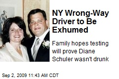 NY Wrong-Way Driver to Be Exhumed