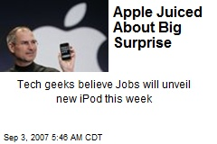 Apple Juiced About Big Surprise