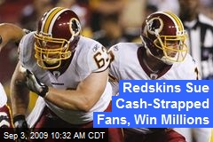 Redskins Sue Cash-Strapped Fans, Win Millions