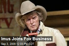 Imus Joins Fox Business
