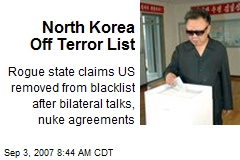 North Korea Off Terror List
