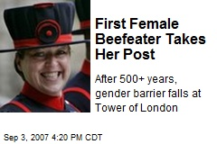 First Female Beefeater Takes Her Post