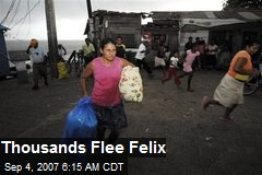 Thousands Flee Felix