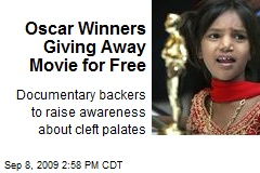 Oscar Winners Giving Away Movie for Free