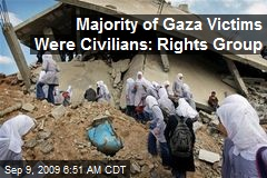 Majority of Gaza Victims Were Civilians: Rights Group