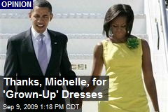Thanks, Michelle, for 'Grown-Up' Dresses