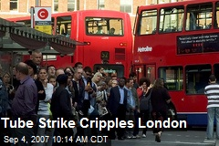 Tube Strike Cripples London